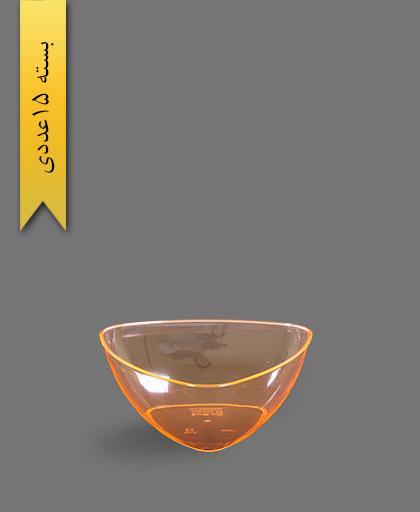 پیاله سه گوش نارنجی 900 لونا - ظروف یکبار مصرف کوشا