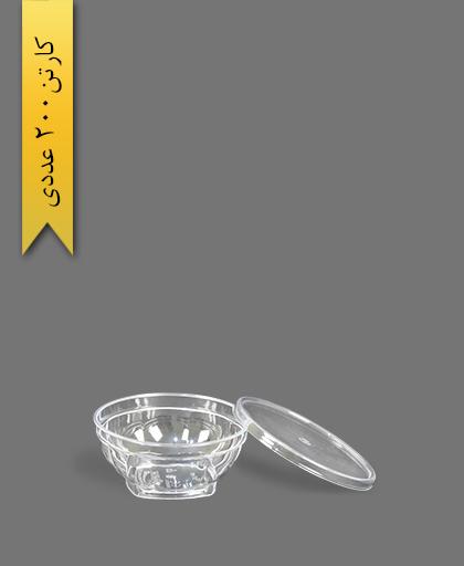 ظرف هلنسا 80 شفاف - ظروف یکبار مصرف کوشا