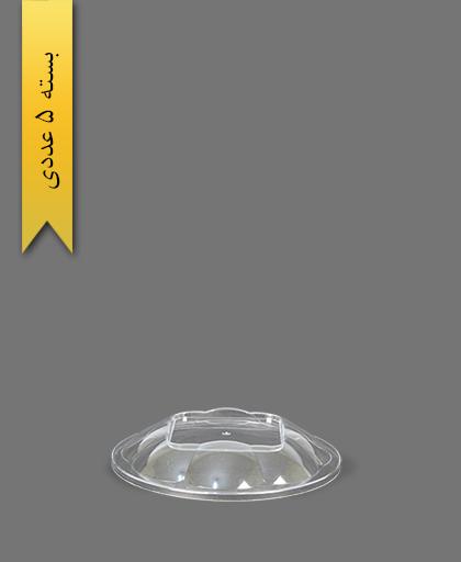 درب ساده هلنسا 500 شفاف - ظروف یکبار مصرف کوشا