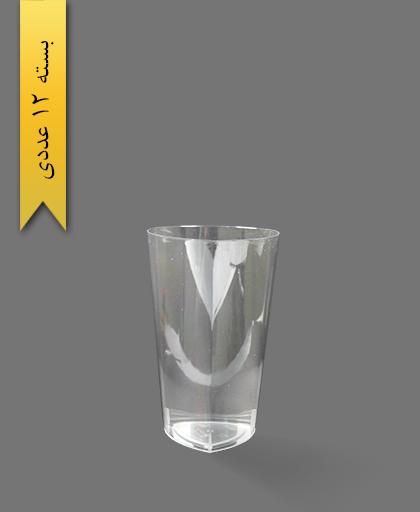 لیوان 530cc لونا شفاف سه گوش - ظروف یکبار مصرف کوشا