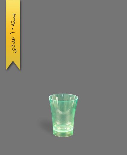 لیوان 50cc بلک لایت سبز - ظروف یکبار مصرف کوشا