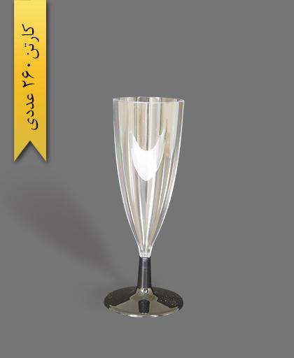 جام آرین پایه مشکی - ظروف یکبار مصرف کوشا