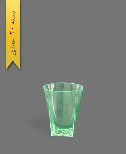 لیوان 220cc بلک لایت سبز - ظروف یکبار مصرف کوشا