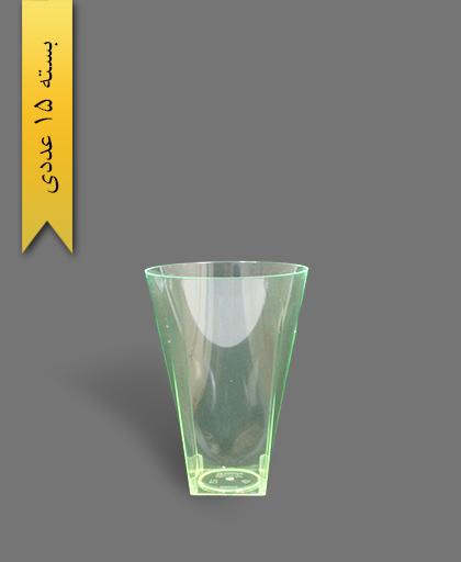 لیوان اکسترا 550cc سبز - ظروف یکبار مصرف کوشا