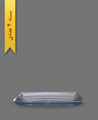 دیس چهارگوش آبی لوکس بزرگ - ظروف یکبار مصرف کوشا