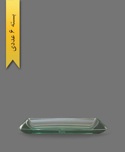 دیس چهارگوش سبز لوکس بزرگ - ظروف یکبار مصرف کوشا