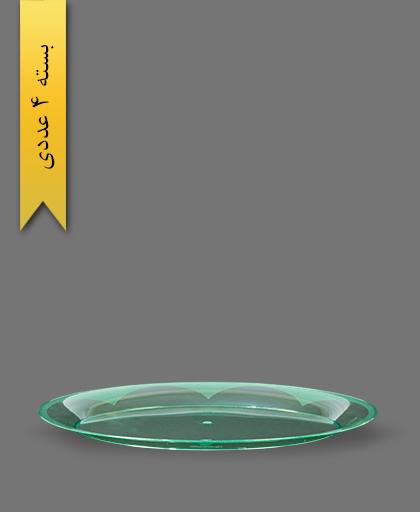 دیس بیضی سبز بزرگ - ظروف یکبار مصرف کوشا