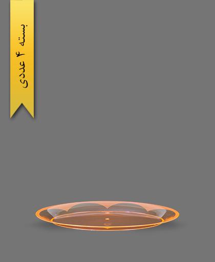 دیس بیضی نارنجی کوچک - ظروف یکبار مصرف کوشا