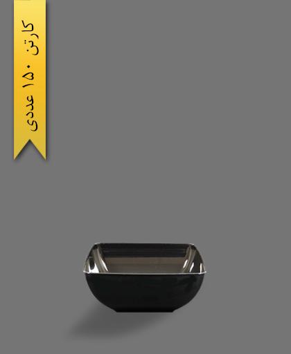 پیاله چهارگوش مشکی 850 لونا - ظروف یکبار مصرف کوشا