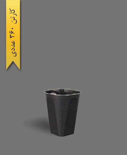 لیوان چهارگوش اسپشیال 210cc مشکی - ظروف یکبار مصرف کوشا