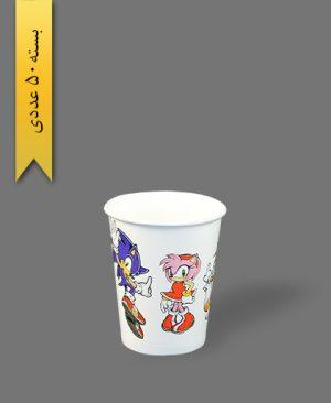 لیوان کاغذی گلاسه طرح 11 - ظرف یکبار مصرف بلوط سبز