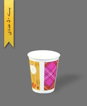 لیوان کاغذی گلاسه طرح 14 - ظرف یکبار مصرف بلوط سبز