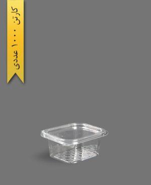 چهار گوش عسلی لولایی بلند - ظروف یکبار مصرف تاب فرم