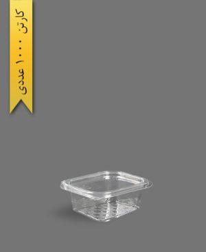 چهار گوش عسلی لولایی متوسط - ظروف یکبار مصرف تاب فرم