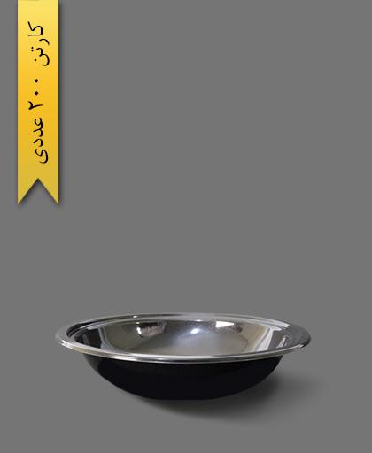 زیره ظرف سالاد سزار 1000 مشکی - ظروف یکبار مصرف ام پی