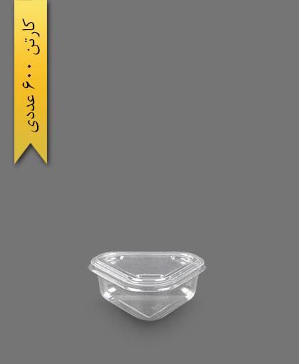 سسی مثلثی با درب - ظرف یکبار مصرف ام پی