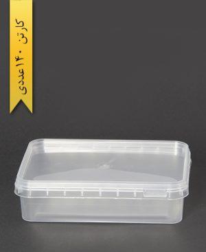 ظرف مایکروویو 666 با درب - ظروف یکبار مصرف طب پلاستیک