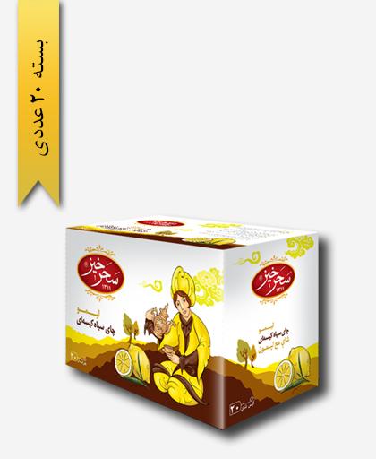 چای کیسه ای سیاه لیمو - زعفران سحر خیز