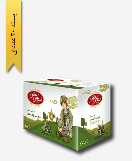 چای کیسه ای سبز هل - زعفران سحر خیز
