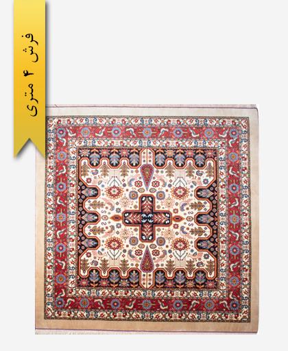 فرش ترکیبی پشمی 4 متری لری باف 100701