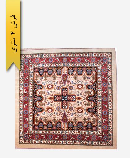 فرش ترکیبی پشمی 4 متری لری باف 100702
