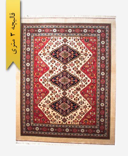 فرش ترکیبی پشمی 3 متری لری باف 100402