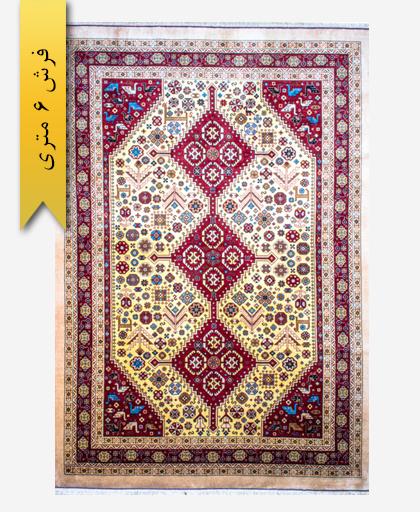 فرش ترکیبی پشمی 6 متری لری باف 100501