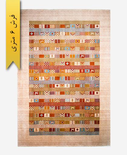 فرش ترکیبی پشمی 6 متری گبه 300202