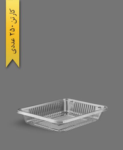 دو پرسی 4cm شفاف - ظروف یکبار مصرف پرشیا