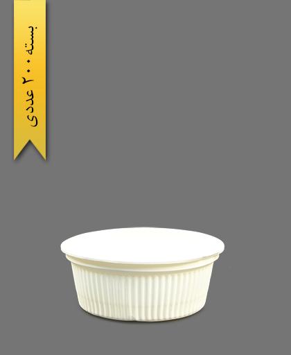 کاسه خورشتی گیاهی 550 - ظروف گیاهی یکبار مصرف آملون
