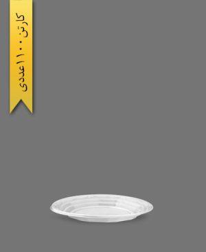 پیش دستی pet سفید - ظروف یکبار مصرف آذران ورق