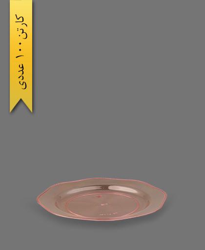 بشقاب 207 صورتی - ظروف یکبار مصرف ام جی