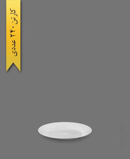 بشقاب کیک خوری گرد سفید - ظروف یکبار مصرف کوشا