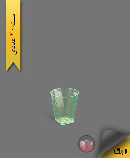 لیوان چهار گوش لوکس 50 رنگی بلک لایت - ظروف یکبار مصرف کوشا