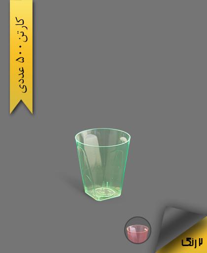 لیوان چهار گوش لوکس 100 رنگی بلک لایت - ظروف یکبار مصرف کوشا