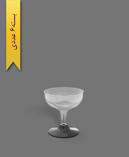 جام روژین 130cc شفاف - ظروف یکبار مصرف کوشا
