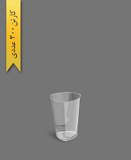 لیوان سه گوش لونا 220 شفاف - ظروف یکبار مصرف کوشا