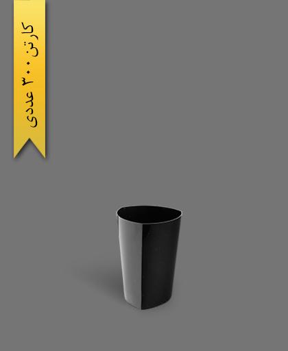 لیوان سه گوش لونا 220 مشکی - ظروف یکبار مصرف کوشا