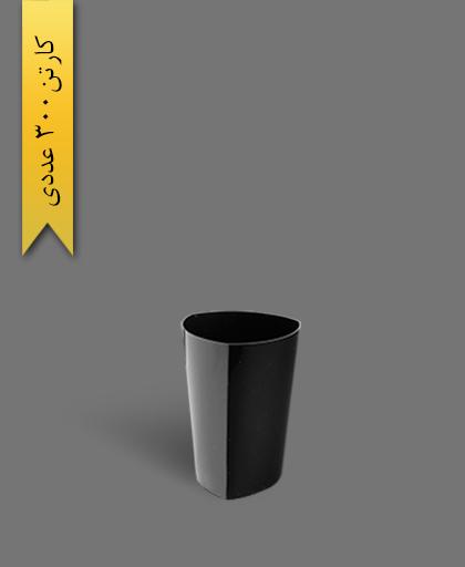 لیوان سه گوش لونا 330 مشکی - ظروف یکبار مصرف کوشا