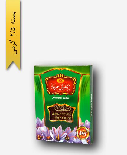 زعفران سر گل 2/5 گرمی قوطی - زعفران خزیمه