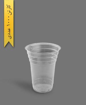 لیوان آیس پک 450 شفاف - ظروف یکبار مصرف آذران ورق