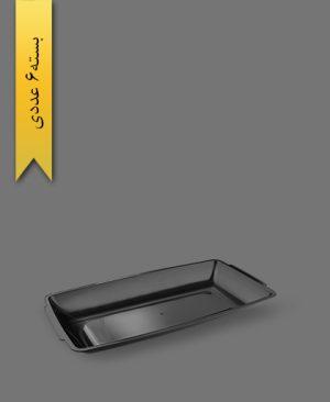 دیس 32cm مشکی - ظروف یکبار مصرف آذران ورق