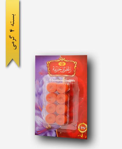 پودر زعفران سر گل 4 گرمی - زعفران خزیمه