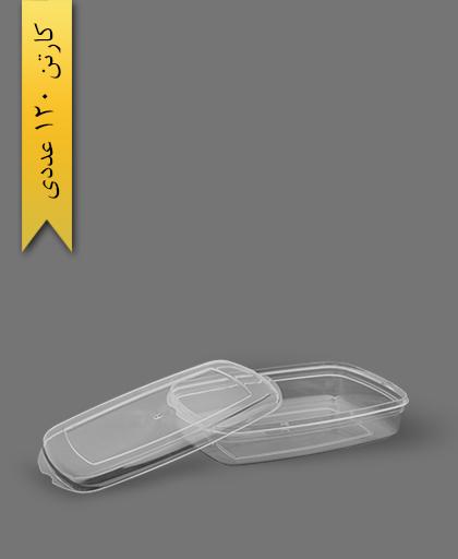 ظرف 500 کریستالی - ظرف یکبار مصرف طب پلاستیک