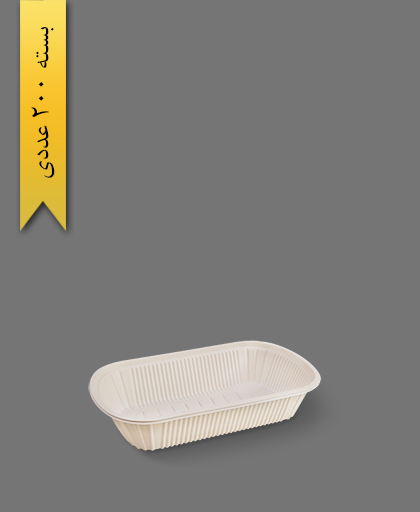 ظرف غذای گیاهی تک خانه - ظروف گیاهی یکبار مصرف آملون