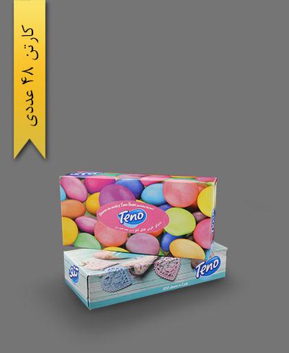 دستمال جعبهای 100 برگ دولا - محصولات یکبار مصرف تنو