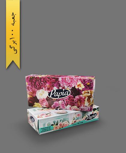 دستمال جعبهای 100 برگ دولا - محصولات یکبار مصرف پاپیا