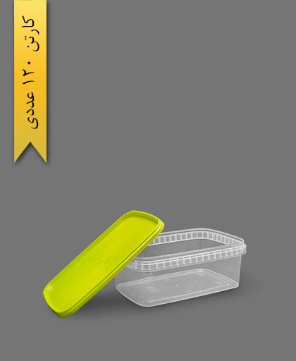 ظرف مایکروویو M1200 با درب سبز - ظروف یکبار مصرف طب پلاستیک