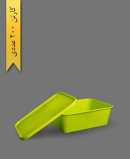 ظرف مایکروویو M1500 با درب - ظروف یکبار مصرف طب پلاستیک