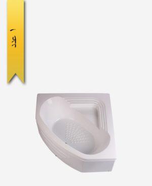 وان حمام مدل آتلانتیک کد 606 کنج با جای نشیمن - سنی پلاستیک
